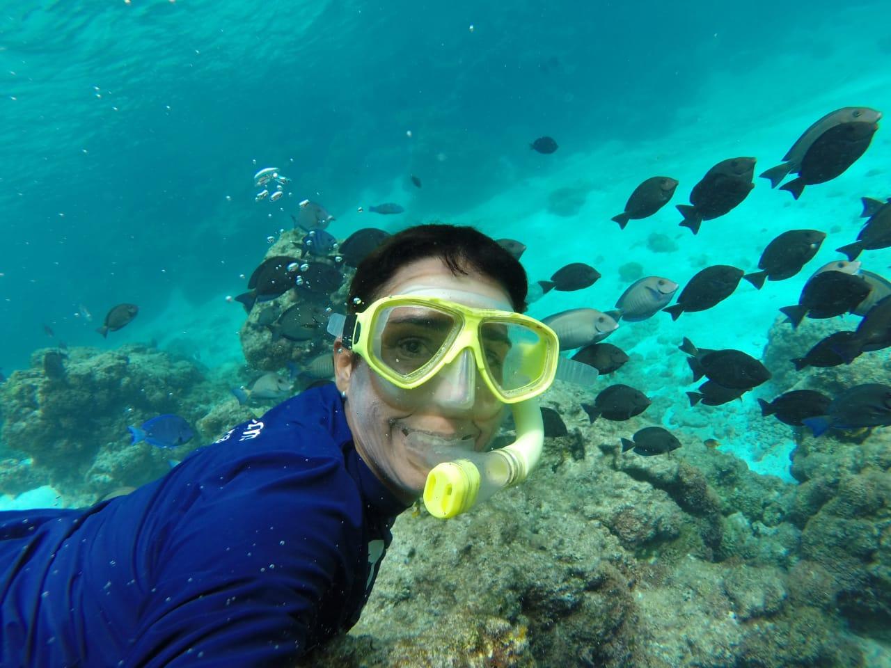 Zelinha, chefe da Reserva Biológica Atol das Rocas, apoiada pelo GEF Mar