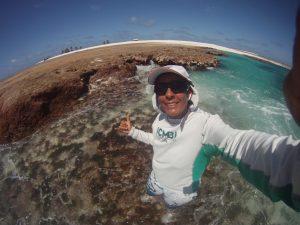 Zélia, chefe da Reserva Biológica de Atol das Rocas, unidade apoiada pelo GEF Mar