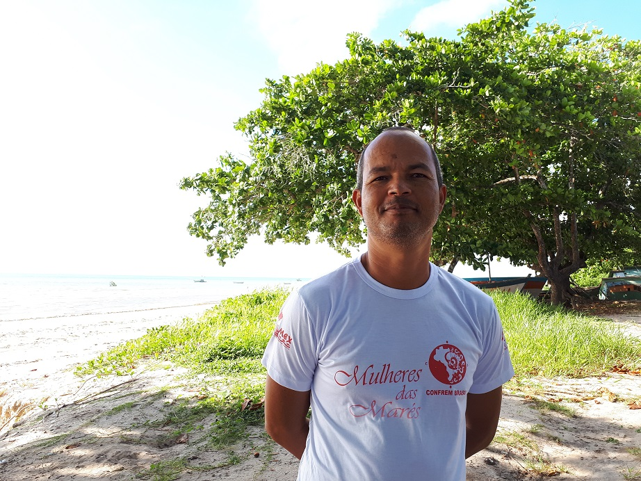 Carlinhos pescador Artesanal na Resex Canavieiras apoiada pelo GEF Mar