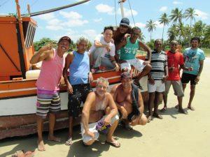 Equipe MAC Cassurubá que tem o apoio do GEF Mar