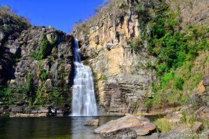 Cerrado: Cachoeira do Garimpão, no Parque Nacional da Chapada dos Veadeiros, em Goiás. Foto: Julio Itacaramby